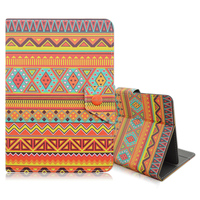 Tribe Stripe Flip Folio Stand PU Leather Tablet Cover Case For 7'' Tablet Case