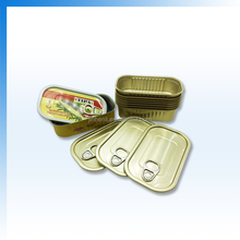 aluminum tuna tin can easy open ends can square meat tin