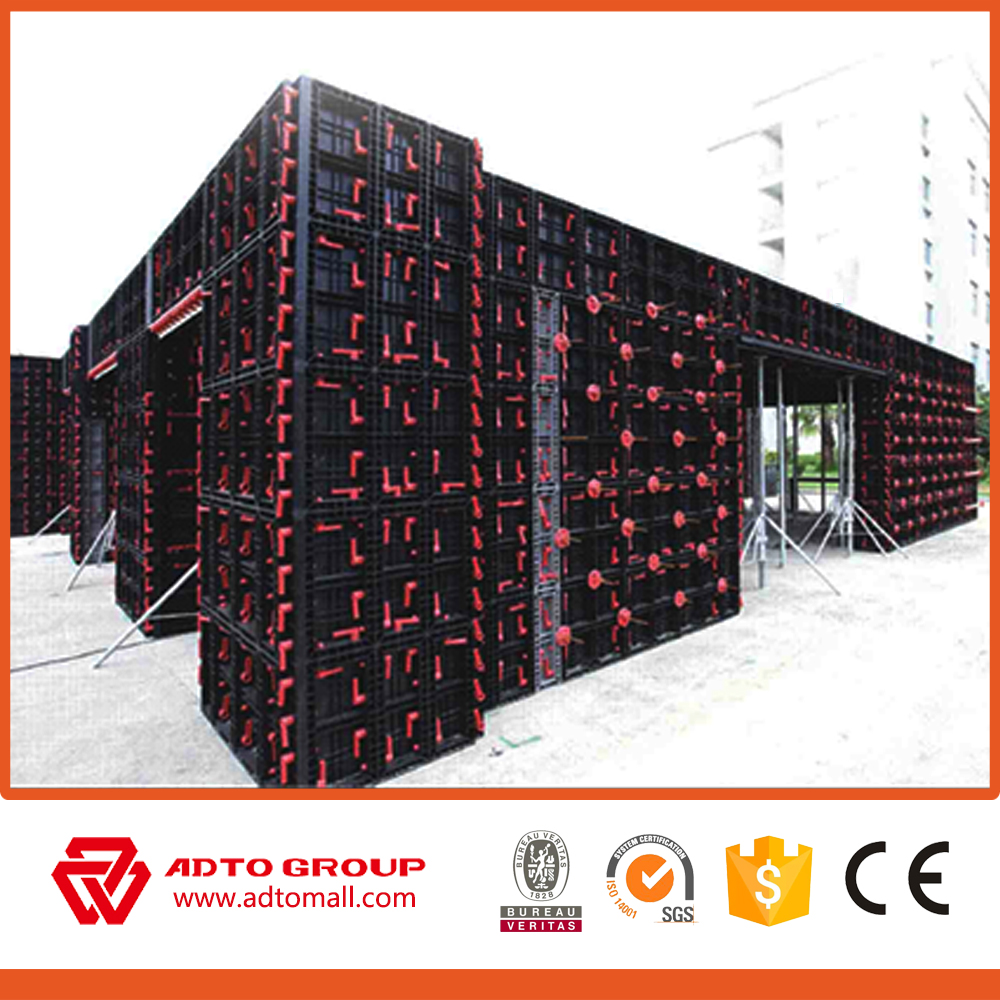 Great quality reusable formwork used Construction Concrete plastic column formwork with low price
