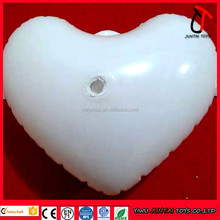 White color heart shape inflatable , paintable blank large inflatable heart for play