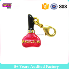 2017 Latest Alloy enamel wholesale perfume bottle charm