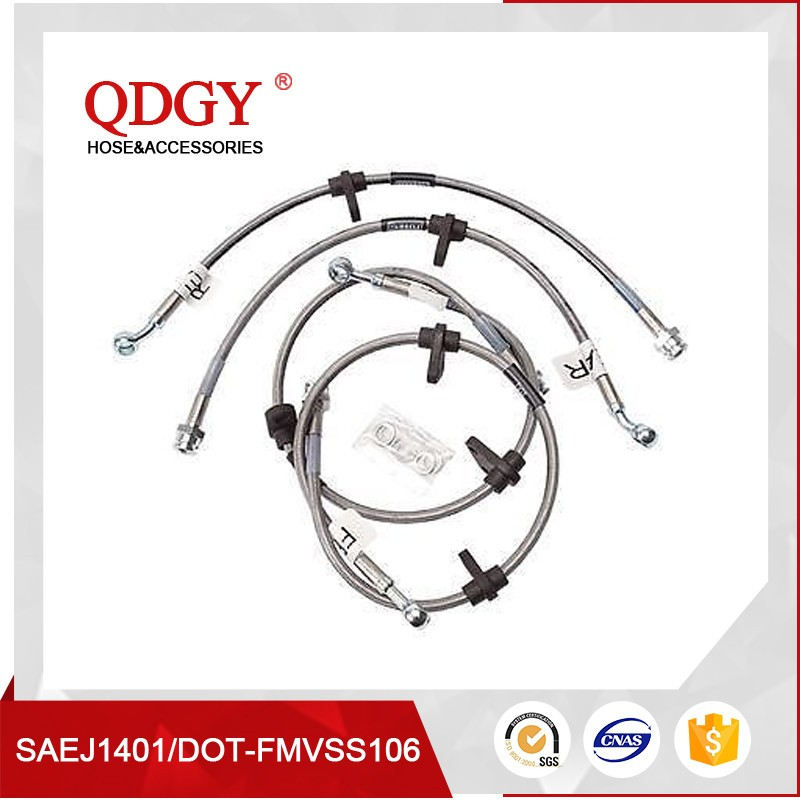 Motorcycle braided brake hose assembly