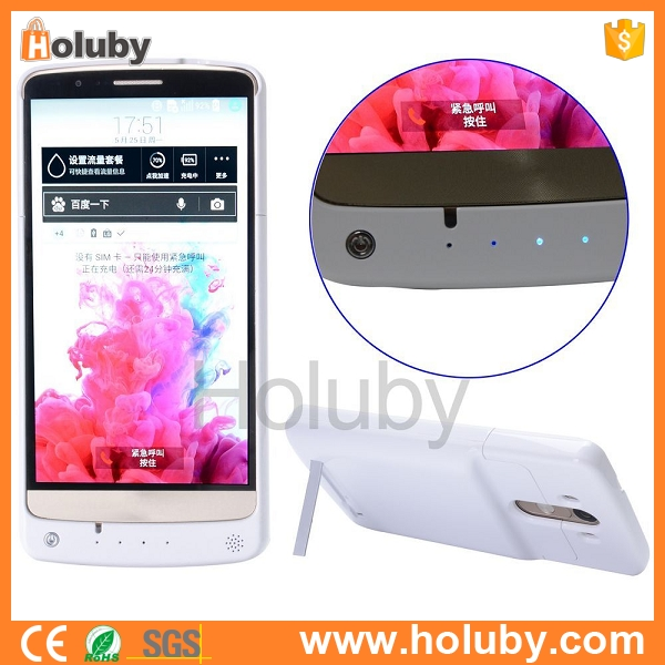 China factory hot selling 4000mAh External Battery Kickstand fast charging power bank Case for LG G3 D855 D850 D851