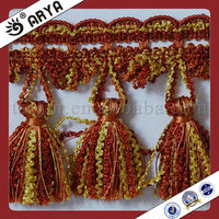 Cheap Curtain lace trim fringe tassel,used for drapes,cushions, curtain and accessories