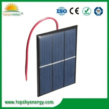 Mini Epoxy 0.65W 1.5V solar panel with cables