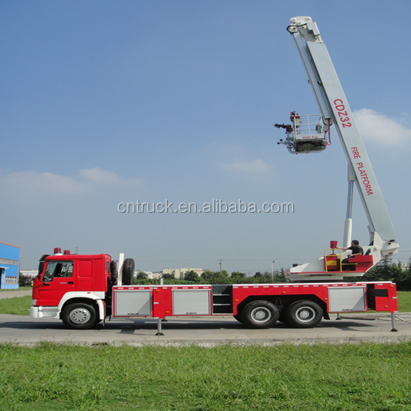 howo 6*4 Aerial ladder fire truck