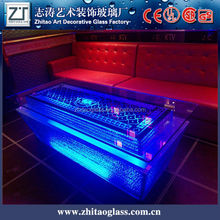 glass furniture LED clear glass laptop table