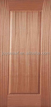 Natural sapelli veneer door skin for home decoration