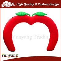 Cheap Apple Shaped Inflatable Entrance Arch Door