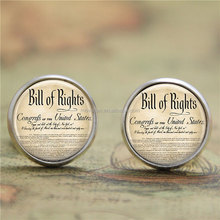 United States earring,Bill Of Rights Ten Amendments Constitution Patriotic American earring Bill print glass earring