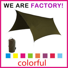 Woqi Outdoor Waterproof rain fly poles Camping Shelter rain fly Tarp .Easy set up. Beach Picnic Blanket Rain Fly backpacking