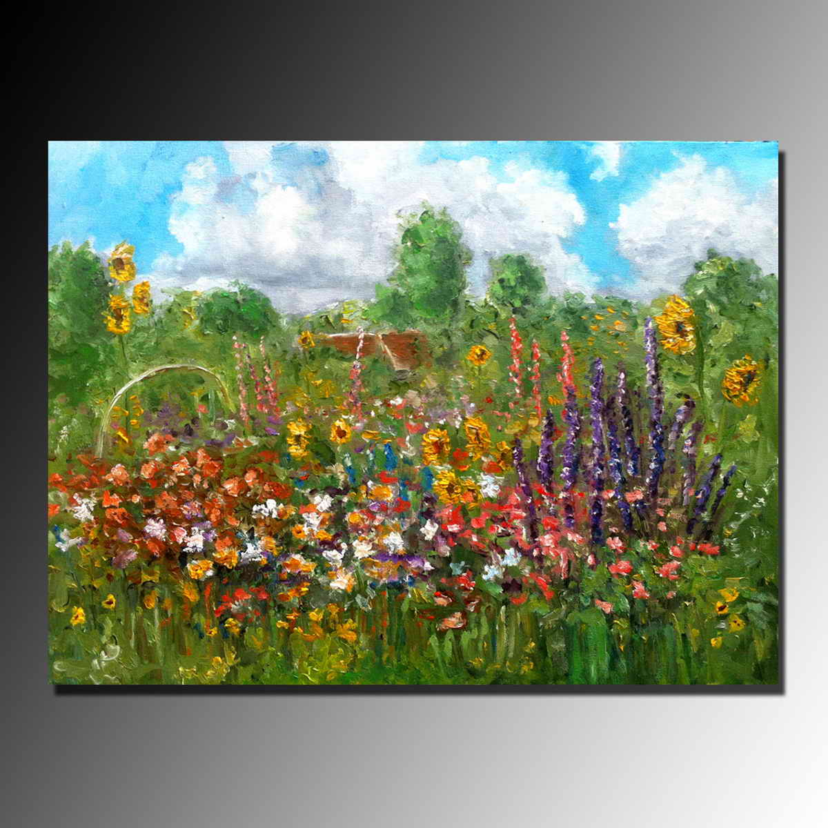 Hand painted spring landscape beautiful flower scenery oil paintings hand painted spring landscape beautiful flower scenery oil paintings for decoration buy beautiful flower scenery paintingflower scenery for decorspring izmirmasajfo