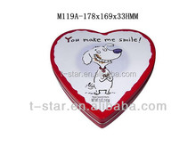 Heart shape tins/gift chocolate metal tin can