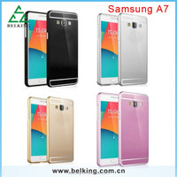 Metal Aluminum Slim Bumper + PC Back Case For Samsung Galaxy A3 A5 A7 S3 S4 S5 note3 note4