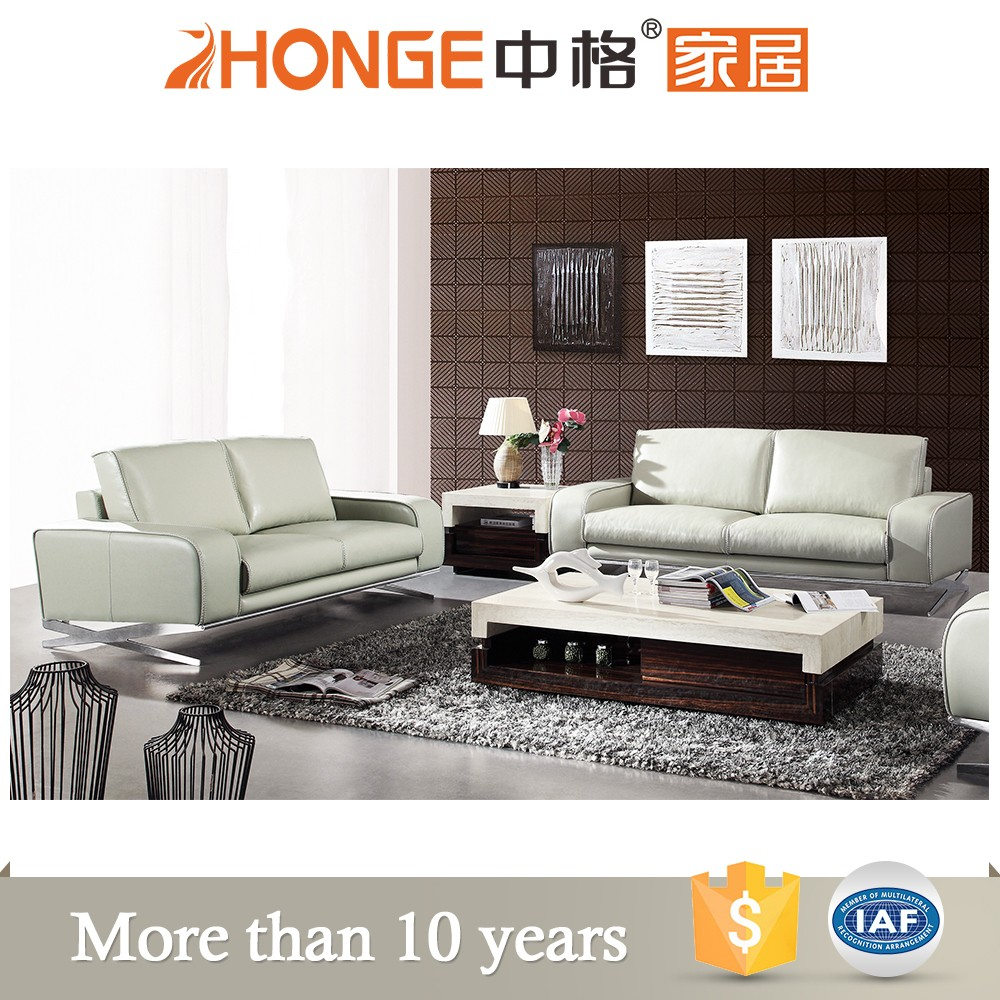 simple style leather sofa furniture with metal frame