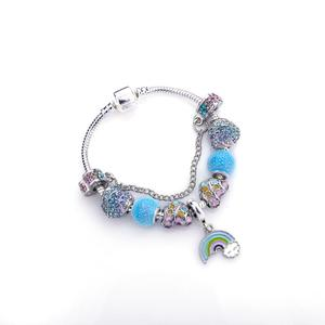 Top selling silver plated bracelet popular european style charms bracelets making by handwork cheap