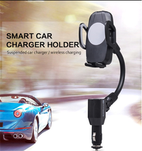 Universal portable super fast 2 port dual usb holder mobile phone wireless car charger