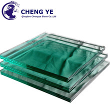 Hot Sale Silk Screen 6.38mm Building Safety Laminated Fabric Glass For Partition wall