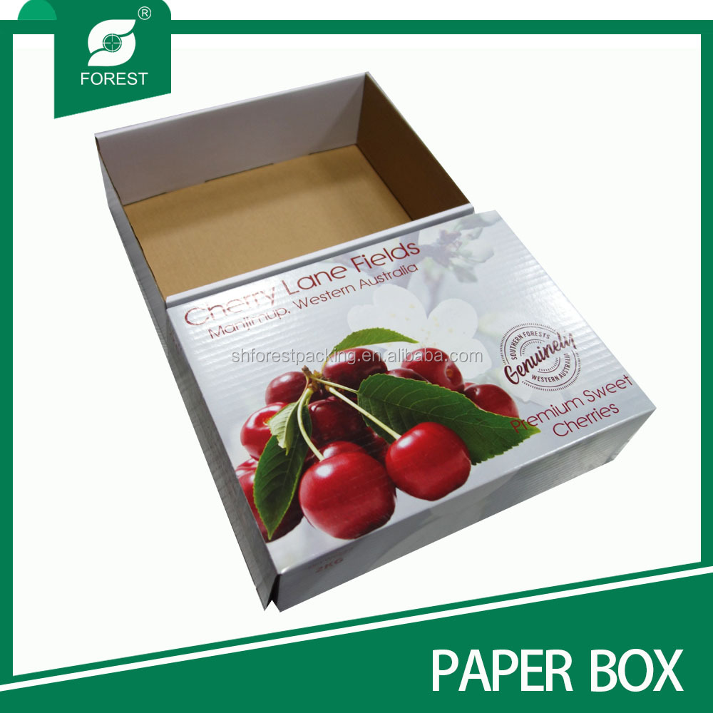 New fashion style corrugated cherry fruit packaging box