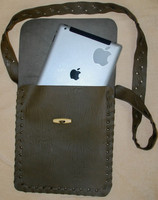 Leather handmade bag from Vietnam for Ipad