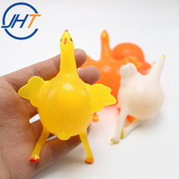 China Supplier Splat ball Squeeze Chicken Laying Egg Stress Relief Vent Tricky Toys Squishy Toy