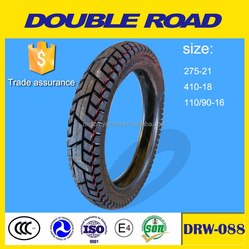 Solid rubber motorcycle tyre black color motorcycle tire 4.10-18 for wholesale