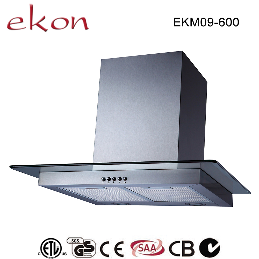 ckd/skd avaliable t shaped sliver mini home appliance 600mm chinese style range hood