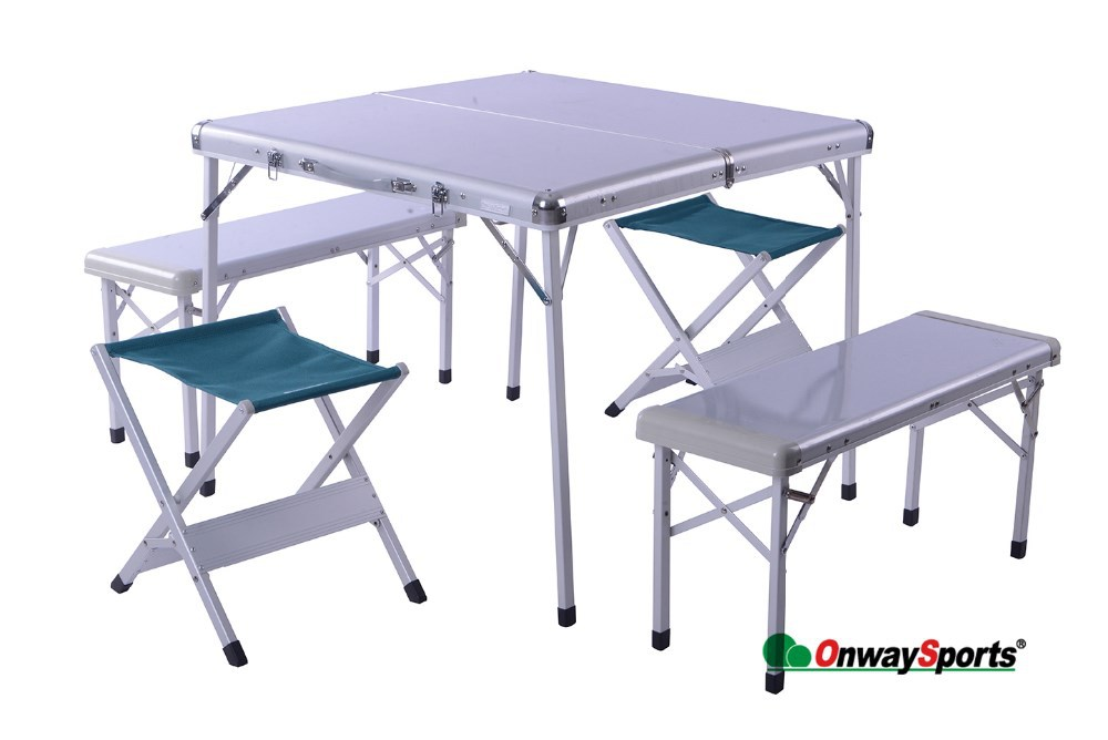 Aluminum frame outdoor dining furniture tables and chairs