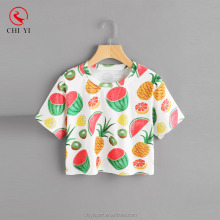 Fruit Print Random Tee Cute Girl Summer wear beautiful Women Stylish T-shirt