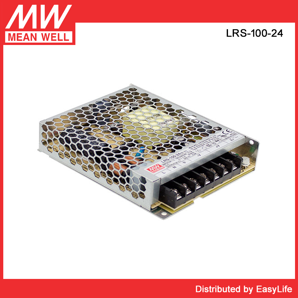 Original meanwell New product 100W 24vdc power supply smps LRS-100-24 SMPS