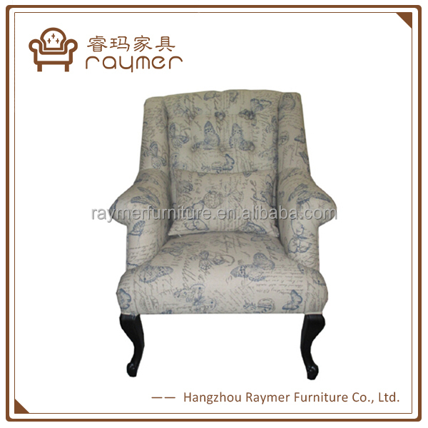 French vintage style furniture tufted upholstery armchair