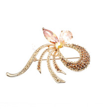 New Design Wholesale Charm Hair Wedding Crystal Brooch