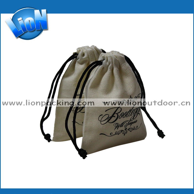 Best selling cotton cloth pouch drawstring shopping bags with custom logo