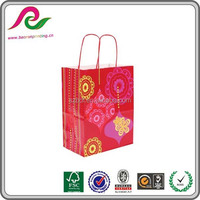 Top sale custom wedding favor gift craft paper bag,/packaging kraft bag