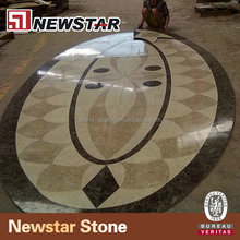 Waterjet Inlays Marble Floor Medallion for Hotel