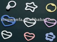 Irregular shape Nylon coated bra ring and slider