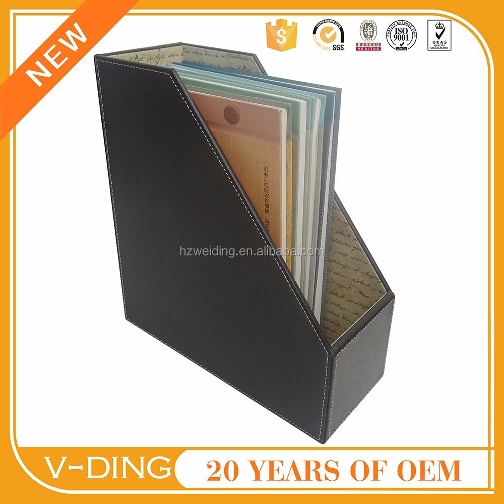 vding from China professional supplier of high quality leather Portfolios office use desktop office file rack