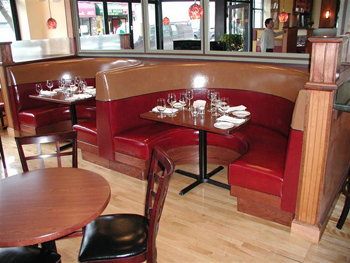 retro fast food restaurant u shape diner booth seating furniture