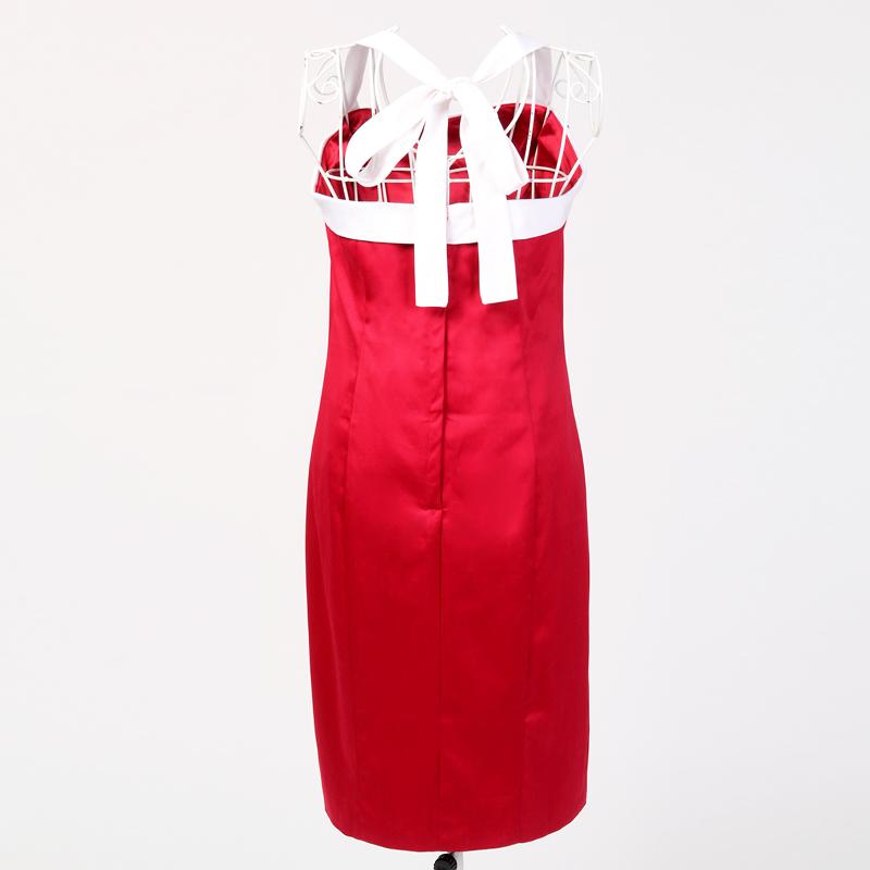 Partei-Abschlussball Brautkleid Punkte Rote weiße Retro-Kleid ...