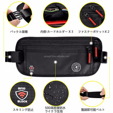 premium Amazon hot waterproof hidden stylish rfid blocking travel money belt