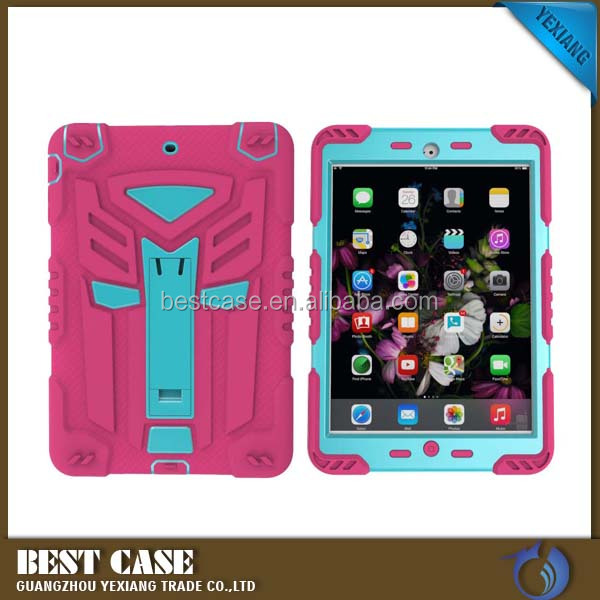 China products for sale Rugged robot stand case for iPad 2 Back Cover with Holder kickstand
