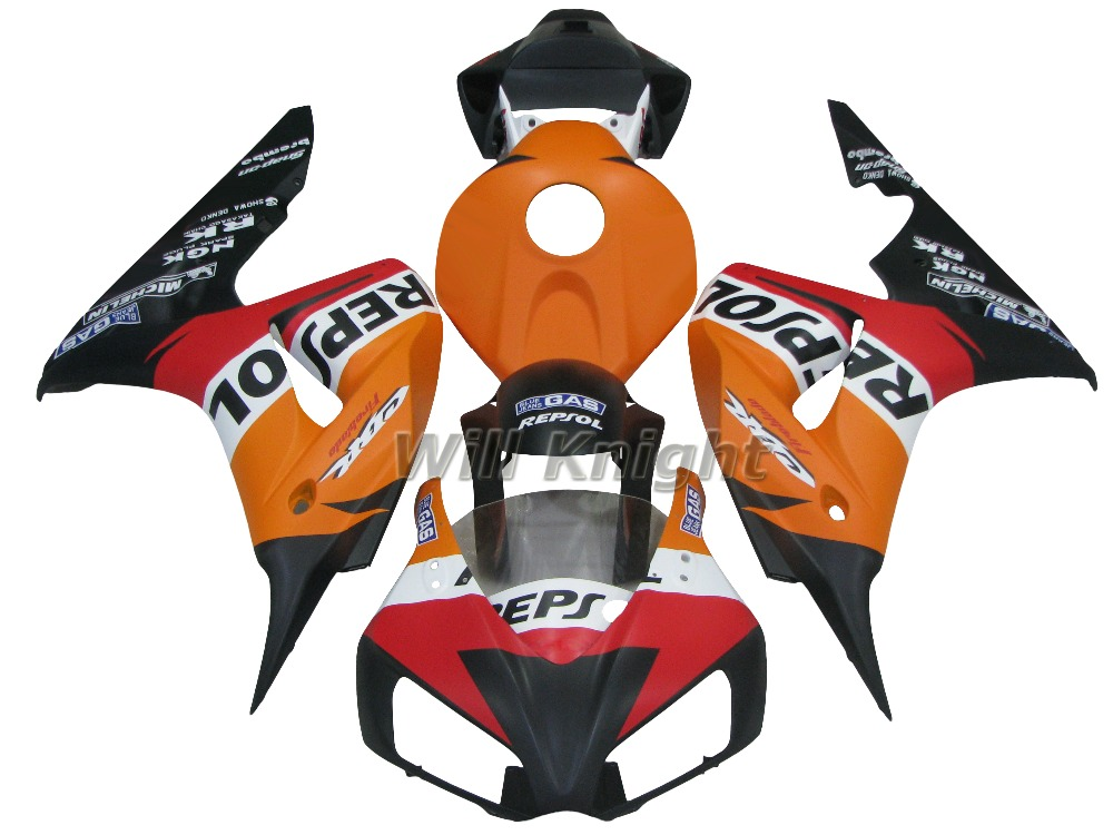 For Honda CBR1000RR 2006 2007 Injection Bodywork Fairing Kit for Motorbike CBR1000 06 07 Repsol Orange
