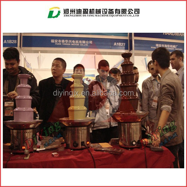 Stainless steel 5 tiers commercial chocolate fountain 220v/110v