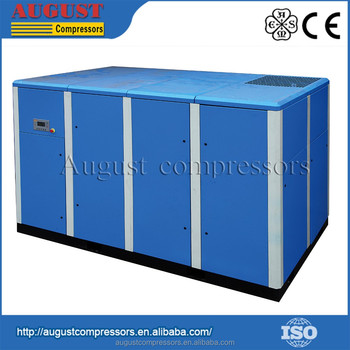 SF200B 200KW/270HP 10 bar AUGUST stationary air cooled screw air compressor industrial air compressor