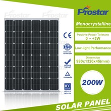 Low Price Of 200W Mono Soalr Panel From Chinese Factory Solar System
