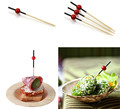 Eco-friendly bamboo sticks picks with decoration for party