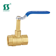 brass ball valve with lock 3way mechanical float