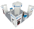 island exhibition booth display with four side open, fabric exhibitionn booth display