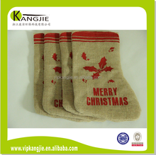 High quality jute Christmas decoration/stocking for gift