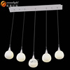 Acrylic chandelier for wedding decor acrylic crystal chandelier led pendant light acrylic OM8801-9W